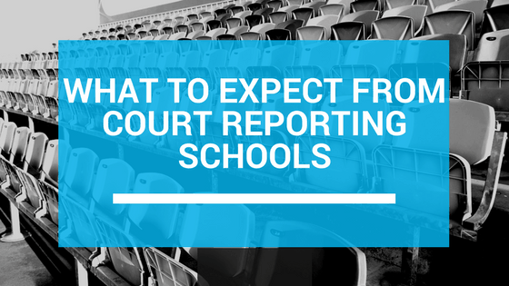 What to expect from court reporting schools